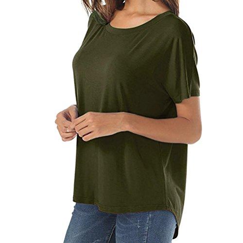 POHOK T-Shirt Blouse,Women Stripe Floral Printing Sleeveless Vest Blouse T-Shirt Tunic Tops ()