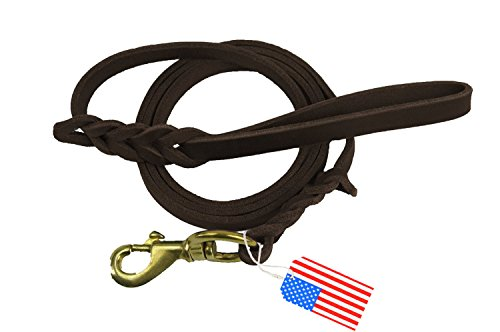 Highland Farms Select Premier 6ft Leather Dog Training Leash. Made from Leather and is a Great Option for Hunting Dogs or General Obedience in the Backyard. Premiere Leather