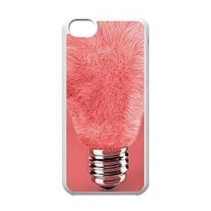 ZK-SXH - Cute Light bulb Personalized Phone Case for iPhone 5C, Cute Light bulb Customized Phone Case