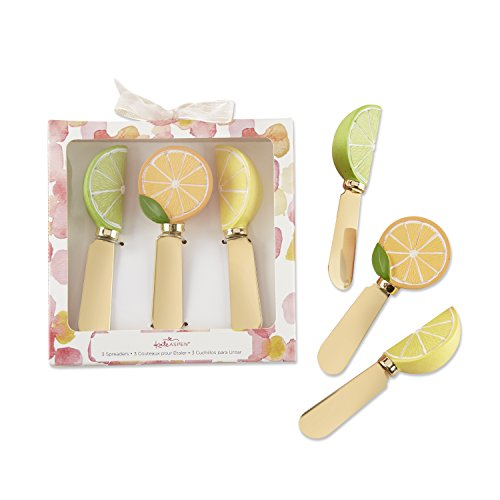 - Kate Aspen 25329AS Citrus Chic Gift Bridal, Baby Showers or Entertaining Guests Spreader set, One Size, Gold, Yellow, Orange and Green