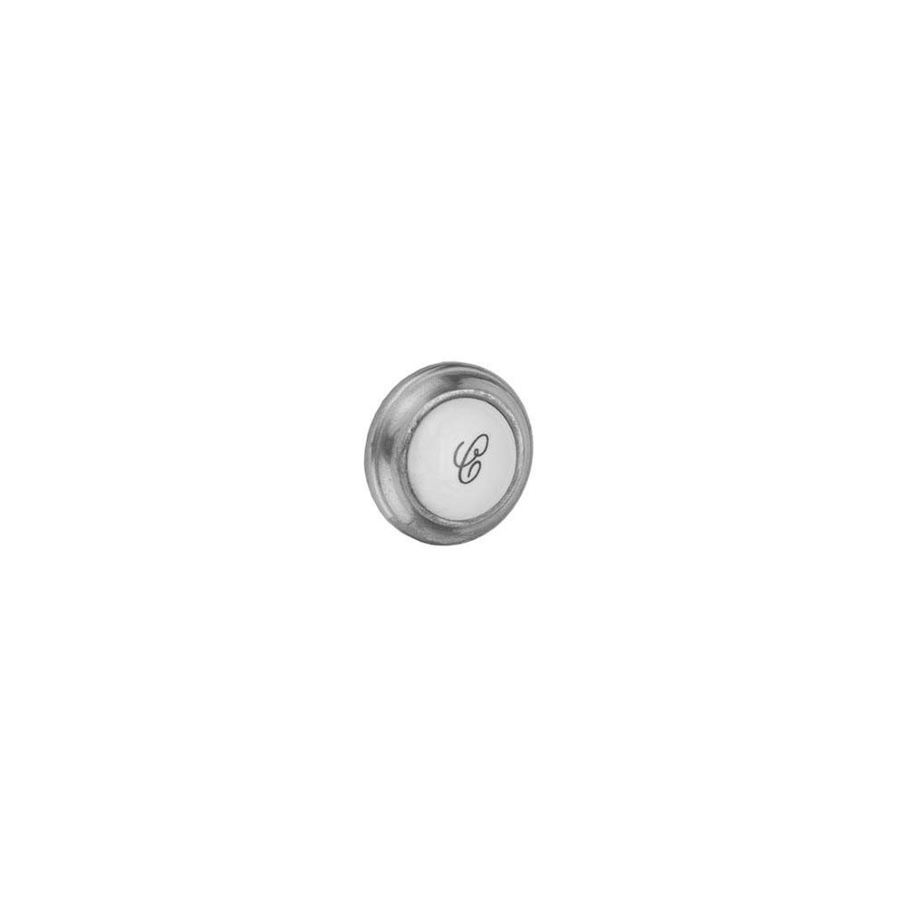 Jaclo 9830-COLD-PCH Cold Porcelain Replace Button, Polished Chrome