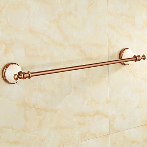 ZnzbztGold over copper throughout natural jade bathroom towel rack mount hardware piece of gold antique single lever towel rack, luxury of Baiyu) Rose Gold