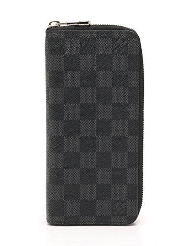 (ルイヴィトン) LOUIS VUITTON ジッピーウォレット ヴェルティカル ダミエグラフィット ラウンドファスナー長財布 PVC 黒 N63095 中古 B07DWQR5WJ