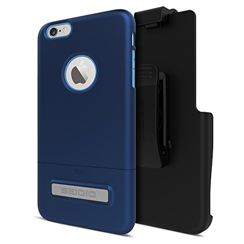 Seidio SURFACE with Metal Kickstand Case & Holster Combo for iPhone 6 Plus/6s Plus - Non-Retail Packaging - Royal Blue/Blue