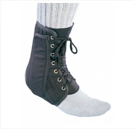 Ankle Brace, Canvas Lace-Up Med