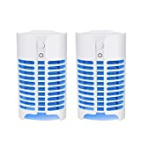 Avar Bug Zapper Indoor Mosquito Lamp Plug-in Electric Insect Killer for Eliminating Most Flies Flying Pests Moths Gnats 2 Pack