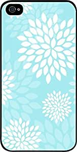 meilinF000Aqua Flower Blooms- Case for the Apple iphone 5/5s Universal-Hard Black PlasticmeilinF000