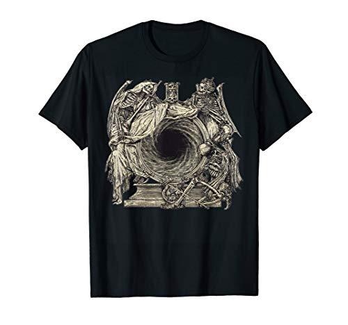 Skeleton Portal Vintage Illustration T-Shirt