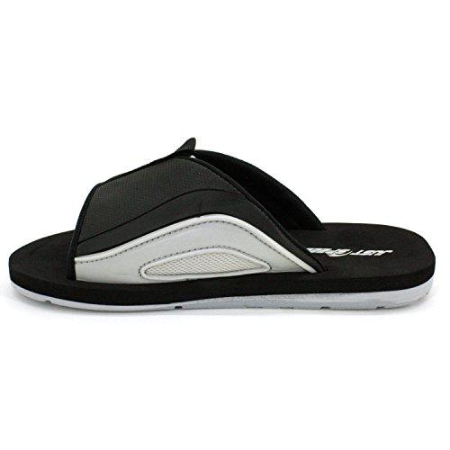 Solo Velocissimi Sandali Da Uomo - Infradito, Sottopiede Cuscino E Suola Flessibile Nero-grigio