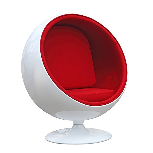 Egg Pod Chair - Fine Mod FineMod Imports Kids Space Chair, Red