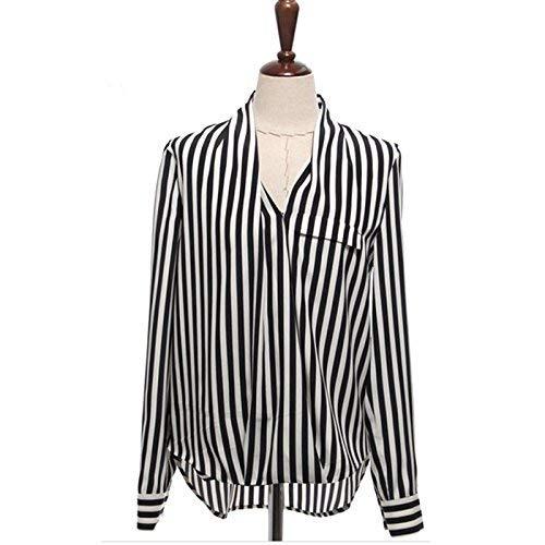 平方酸化するすなわちシャツ 春 長袖 レディース トップス フォーマル ストライプ 服 カジュアルシャツ ブラウス ビジネス ゆるシャツ 黒 春物