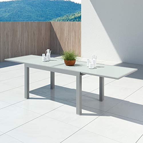 Avril Paris Hara XL - Table de Jardin Extensible Aluminium ...