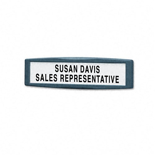 Plastic Partition Additions Nameplate, 9 x 2 1/2, Graphite, Sold as 1 Each by Fellowes