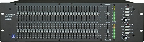 (Ashly GQX-3102 2 Channel 1/3 Octave Graphic Equalizer )