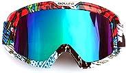 HONCENMAX Motorcycle Goggles Motocross Glasses for Helmet Fog-Proof Windproof Riding Bike UV Protection Sungla