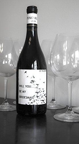 Neato Blank Wine Bottle Labels 40 Pack Vinyl Water