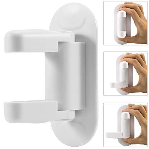 Ginmic Child Door Locks (4 Pack) Lever Handle Door Lock Child Proof, Child Safety Door Lock with Super Strong 3M Adhesive by GINMIC (Image #1)