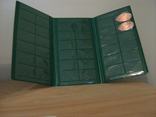 Green Souvenir Penny Collecting Book for Elongated - Collector Souvenir