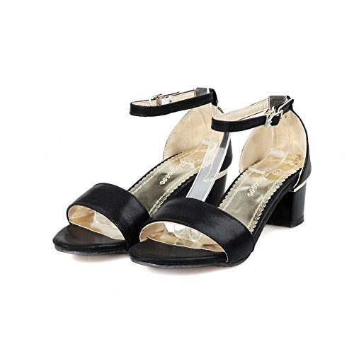 1TO9 Womens Heeled-Sandals Assorted?Color Chunky Heels Urethane Heeled Sandals MJS02519 Black vJvKA9