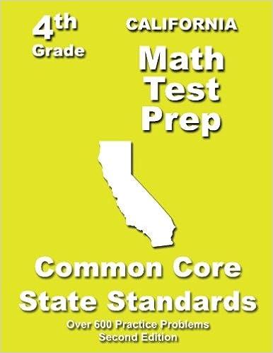 California 4th Grade Math Test Prep: Common Core Learning