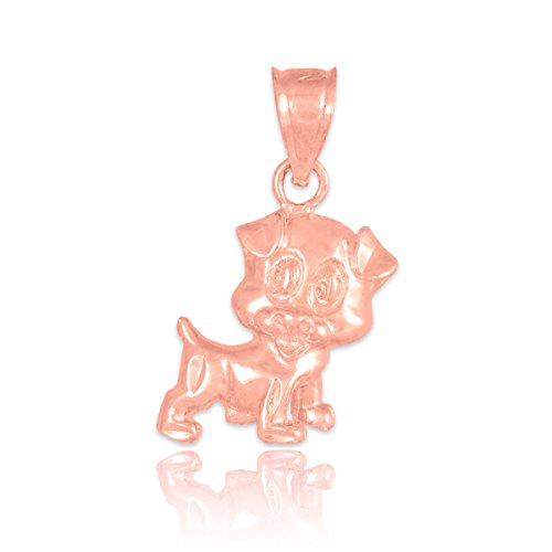 10 ct 471/1000 - Rose Or Coupee Puppy-Charme-Pendentif