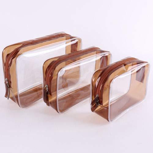 Waterproof PVC Transparent Makeup Case Toiletry Bag Cosmetic Bags Storage Pouch (Size - 3pcs/set(L/M/S))
