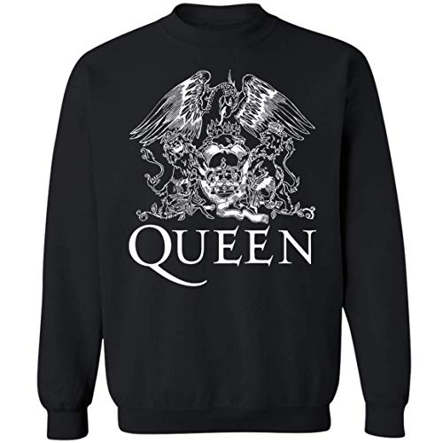 (Queen Band Royal Crest Logo Shirt Gifts Men Women Boys Girls Sweatshirt (L,Black) )