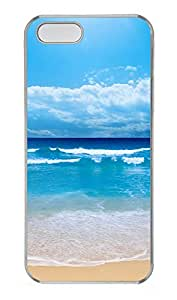 iPhone 5 5S Case Blue Beach PC Custom iPhone 5 5S Case Cover Transparent