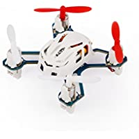 Hubsan Q4 H111 Nano 4 Channel 6-Axis Gyro Mini RC Quadcopter with 2.4Ghz Remote Controller & LED Lights - White