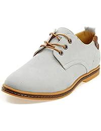 DADAWEN Men's Canvas Oxford Casual Shoe