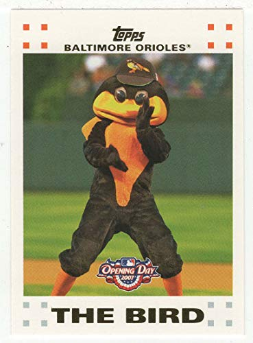 (Baltimore Orioles Mascot: The Bird (Baseball Card) 2007 Topps Opening Day # 186 NM/M)