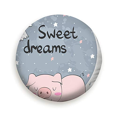Spare Tire Cover Funny Pig Moon Sweet Animals Wildlife Baby Wheel Covers Universal Tires Protectors