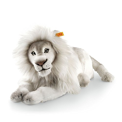 - Steiff Timba Lion Plush Animal Toy, White
