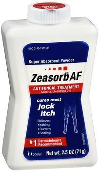 Zeasorb Antifungal Treatment Powder, Jock Itch - 2.5 oz, Pack of 5