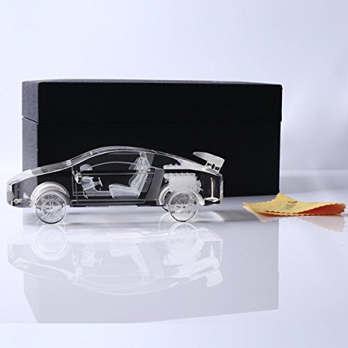 YWHL Crystal car Model Statue and Figurines Paperweight for Home Decor/Office decorationfor Men/Kids (5.8in)