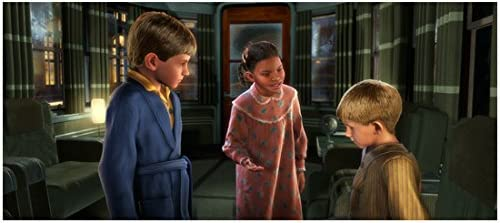 The Polar Express 2004 8 Inch X 10 Inch Photograph Hero Boy Hero Girl Talking To Billy Kn At Amazon S Entertainment Collectibles Store