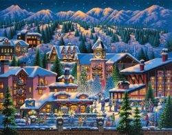 Rocky Mountain Christmas 1000 Piece Puzzle