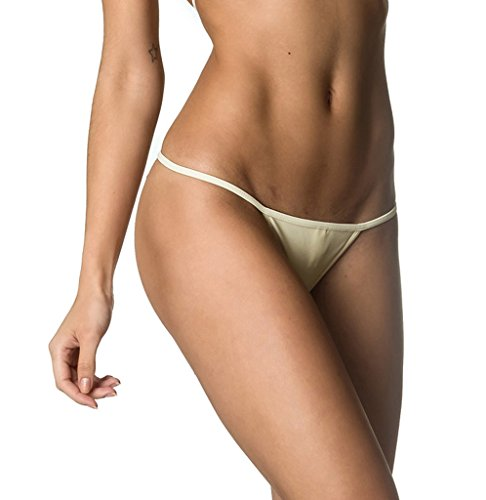 f3568483017f5 COQUETA Brazilian Teeny Itsy Bitsy Micro Thong Mini Bikini Swimsuit G String  IVORY-SM - Buy Online in Oman.