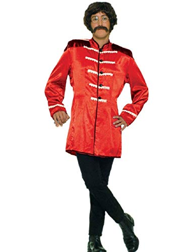 (Mens Red 60s British Explosion Beatles SGT Peppers Band Jacket Costume 42)
