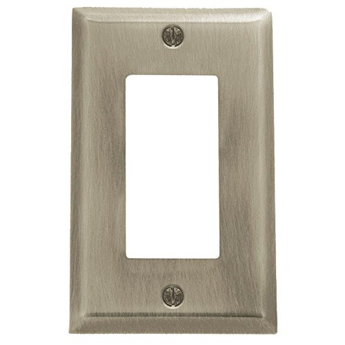 Baldwin 4754.150.CD Classic Square Beveled Edge Single GFCI Switch Plate,