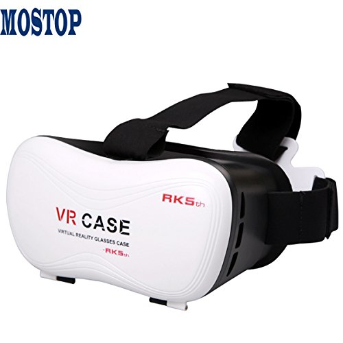MOSTOP® VR PARK-II 3d Glasses for 3d Video Games Headset for 4-6 Inch Smartphone (VR BOX)