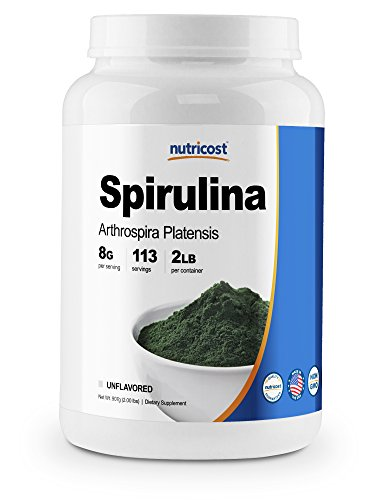 Nutricost Spirulina Powder 2 Pounds - Pure, High Quality Spirulina 8000mg Per Serving