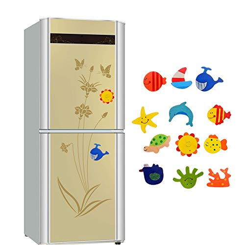Fish Roll Stickers - s - Cartoon Wooden Sea Fishes Fridge Magnet Sticker Kid Child Math Xmas Gift Toy - Roll Sticker School Board Large Space Doug Bulk Girls Valentine Wall Laptop Sports Paint Party