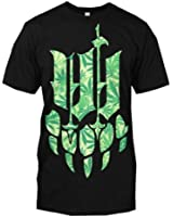 IWRESTLEDABEARONCE - Weed Paw - Black T-shirt