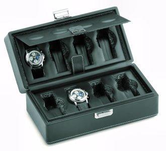 Scatola del Tempo 8B Leather 8 Watch Collectors Travel Case