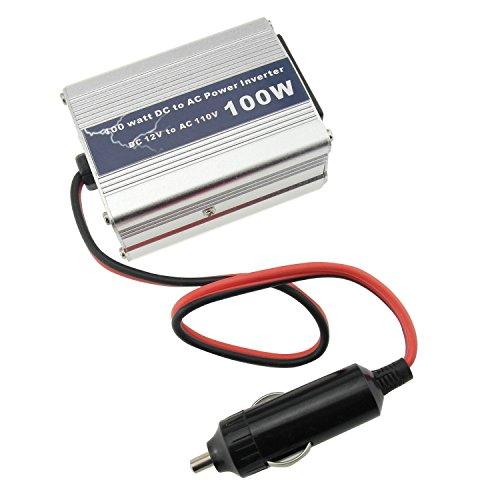 100W Power Inverter Car DC 12V to AC 110V US Outlet 5V USB Port for Laptop Phone freezer etc (100W) (100w Power Inverter)