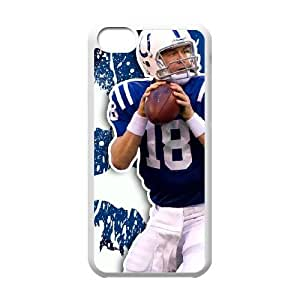 NFL iPhone 5c White Cell Phone Case Indianapolis Colts QNXTWKHE2584 NFL Clear Phone Case Covers Custom
