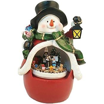 Christmas Carol Singers Figurines.Lightahead Musical Christmas Carol Singing House Scene