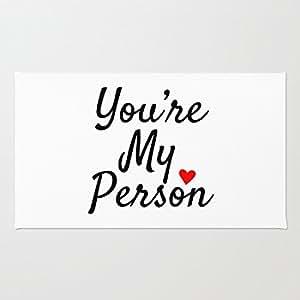 Eres mi persona Coral Felpudo de terciopelo, Uso En Interiores/al aire libre Floor Mat