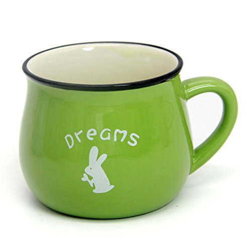 - Momugs 6 oz Coffee Cup, Personalized Cute Lovely Cartoon Animal Pattern Small Milk Mug, Green